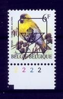 Buzin  PRE * Nr 829 B.P8a * Plaatnr 2 * Postfris Xx * - 1985-.. Vogels (Buzin)