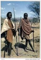 Carte Postale  KENYA  Masaï Warriors édit: IRIS  Hoa-Qui N° 4129  BT3 - Kenya