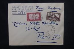 ALGERIE - Enveloppe Commerciale De Alger Pour Paris En 1938 , Affranchissement Plaisant - L 53745 - Lettres & Documents