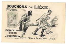Bouchons De Liège 1re Qualité ( 2 Scans) - Weltkrieg 1914-18