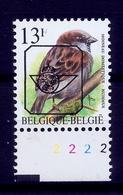 Buzin  PRE * Nr 837 P8 * Plaatnr 2 * Postfris Xx * - 1985-.. Vogels (Buzin)