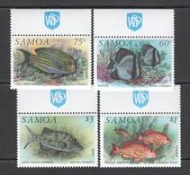 E159 SAMOA FAUNA FISH & MARINE LIFE #746-49 MICHEL 1SET MNH - Meereswelt