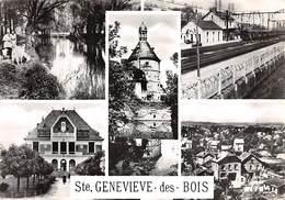 91 .n° 21858 . Sainte Genevieve Des Bois . Train .la Gare . Vue D Ensemble . Cpsm.10.5 X 15cm . - Sainte Genevieve Des Bois