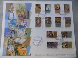 FDC Grand Format France 2012 : Série Artistique, Le Cubisme (série Complète 14 Timbres) - FDC