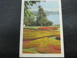 USSR Soviet Russia Pocket Calendar Landscape Kiev Blooming Aeroflot 1987 - Calendars