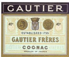 Etiket Etiquette - Cognac - Gautier Frères - Autres