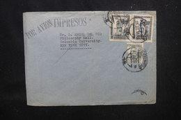 ESPAGNE - Enveloppe De Valencia Pour New York En 1937, Affranchissement Plaisant - L 53769 - 1931-Heute: 2. Rep. - ... Juan Carlos I