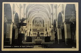 Palestine Jerusalem Bethlehem Interior Of Saint Catherine Church 8m 1937 Pictorial - Palestine