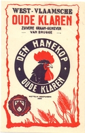 Etiket Etiquette - Genever - West Vlaamsche Ouden Klaren Van Brugge - Den Hanekop - Autres