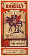 Etiket Etiquette - Genever - Ouden Hasselt - St Martinus Bitter - Likeurstokerij Aalst - Labels