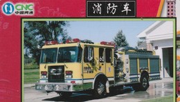 TELECARTE ETRANGERE  .... CAMION DE POMPIER - Feuerwehr