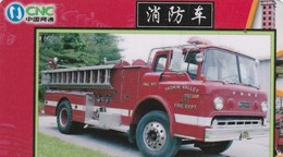 TELECARTE ETRANGERE  .... CAMION DE POMPIER - Firemen