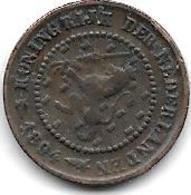 Netherlands 1/2 Cents 1894 Km 109  Vf - 0.5 Cent