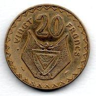 Rwanda   -- 20 Francs 1977    -- état  TB+ - Rwanda