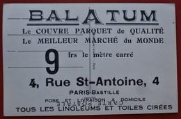 Cpa Publicitaire 75 PARIS 4e  BALATUM 78 Maisons Laffitte Eglise Chateau - Arrondissement: 04