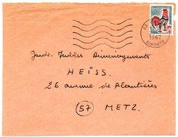 GIRONDE - Dépt N° 33 = TALENCE  1967 = FLAMME Codée = SECAP Muette '5 Lignes Ondulées' - Postmark Collection (Covers)