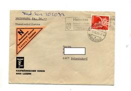 Lettre Contre Remboursement  Flamme Cachet Luzerne Sur Gargouille - Storia Postale