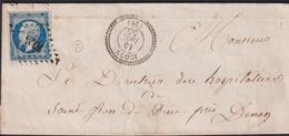 LETTRE DES COTES-DU-NORD AVEC PC DE JUGON LSC 1855 B - Marcophilie (Lettres)