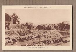 CPA MADAGASCAR - TANANARIVE - Place D'Andohalo - TB PLAN TB ANIMATION CENTRE VILLE Marché Stands - Madagascar