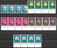 Schweiz Suisse 1964: Pro Juventute Zu 205-209 Mi 803-807 Yv 738-742 ** MNH + TAB 4-sprachig En 4 Langues (SBK CHF 34.80) - Roses