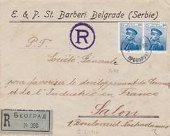 Env Recommandée à En Tête Barberie Belgrade T.P. Ob 9 5 12, Env Pour Salon France - Serbie