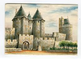C.P °_ 11-Carcassonne-Porte Narbonnaise Et La Tour Du Trésor ° NEUVE - Carcassonne