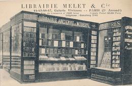 PARIS - LIBRAIRIE MELET & Cie - 44-45-46-47 GALERIE VIVIENNE PARIS (2 E Arrond) - Arrondissement: 02
