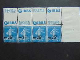 Superbe Bande De 3 Du N°. 217 Avec Pub Gibbs - Publicités
