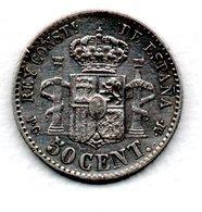 Espagne / 50 Centimos  1892  / TB+ - [1] …-1931: Königreich