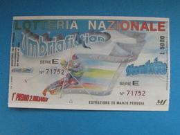 BIGLIETTO LOTTERIA UMBRIAFICTION 1993 - FDS PERFETTO - Biglietti Della Lotteria