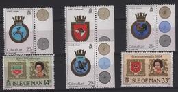 ARM 17 - GIBRALTAR N° 258/59 + 489/92 Neufs** Armoiries - Gibraltar
