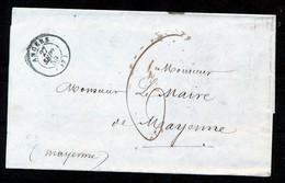 """FRANCE - Lettre De """"ANGERS"""" Vers  """"MAYENNE"""" Dd 27-09-1859 Taxée 6 - (ref. A14) - 1849-1876: Période Classique"""