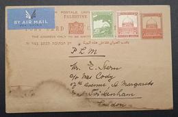 Palestine Jerusalem Stationary 1939 8m Up-rated 11m Pictorial - Palestine