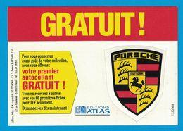 AUTOCOLLANT PORCHE STUTTGART EDITIONS ATLAS - Pegatinas