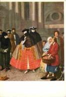 Art - Peinture - Pietro Longhi - Dama In Bautta - Carnaval De Venise - Voir Scans Recto-Verso - Peintures & Tableaux