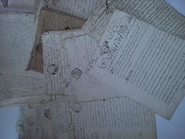 GOUDELIN - PONTRIEUX - QUIMPER GUEZENNEC ...Archive Env. 47 Actes Notariés 1685 - 1833 - Historical Documents