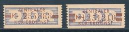 DDR Dienstmarken B 20/21 ** Nachdrucke Mi. 75,- - DDR