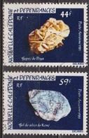 Minéraux - NOUVELLE CALEDONIE - Gypse, Gel De Silice - N° 227 - 228 - 1983 - Poste Aérienne