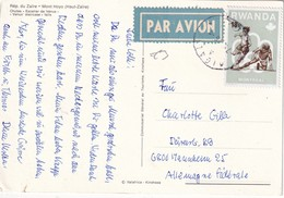 RWANDA 1976 CARTE POSTALE THEME FOOTBALL - Poste Aérienne