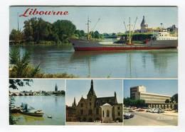C.P °_ 33-Libourne-Port-bateau Le Carebeka III-Mairie-Lycée-1981 - Libourne