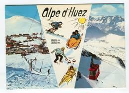 C.P °_ 38-Alpe D'Huez-Station Et Signal Des Grandes Rousses-1987 - Autres Communes