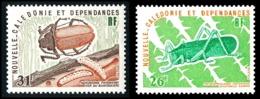 NOUV.-CALEDONIE 1977 - Yv. 406 Et 407 **   Cote= 6,20 EUR - Insectes Pseudophyllanax & Agrianome (2 Val)  ..Réf.NCE25149 - Nouvelle-Calédonie