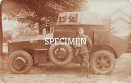 Photo Postcard Pantzer Tank Car - Ausrüstung