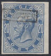 Essai - épreuve Des Planches (émission 1883, Essai De Couleur) Sur Papier Blanc : 20ctm Bleu + SPECIMEN  (NL) - Essais & Réimpressions