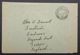 Palestine Jerusalem 457 Field Post Office 1946 UK Military Unit - Palestine