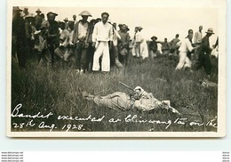 Chine - RPPC - Chin Wang Tao - Bandit Executed - 28th Aug. 1928 - Chine