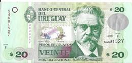 Uruguay - 20 Pesos 2011 - Série F - N° 54881527 - TTB - - Uruguay