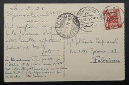 Palestine Jerusalem 4m Surcharge 1921 Port Said Italy Rare Bethlehem - Palestine