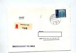 Lettre Recommandée Chargée Altdorf - Storia Postale