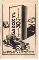 Publicité : Cpa  Gazoxyl - Advertising